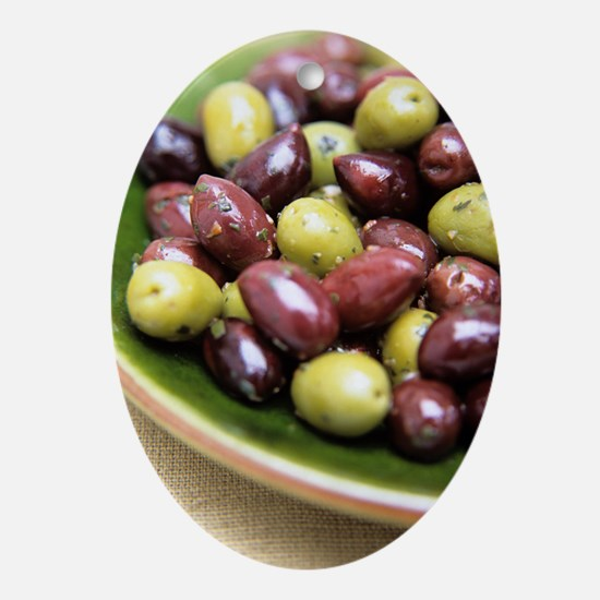 Mixed olives Oval Ornament
