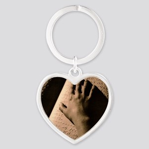Moon Braille Heart Keychain