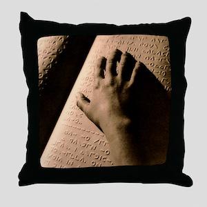 Moon Braille Throw Pillow