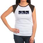 Fencing Thrust Sequence Women's Cap Sleeve T-Shirt