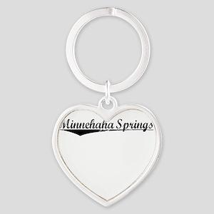 Minnehaha Springs, Vintage Heart Keychain