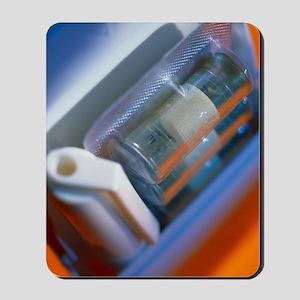 Nicotine inhaler and nicotine-filled car Mousepad