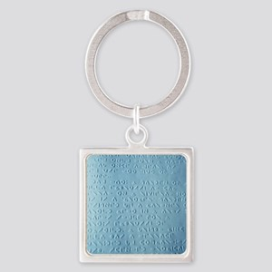 Moon braille Square Keychain