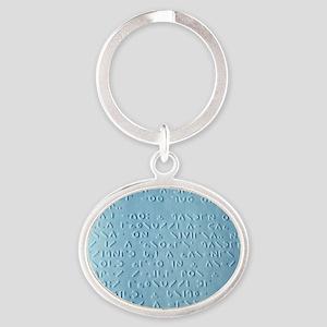 Moon braille Oval Keychain