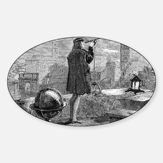 Nicolaus Copernicus, Polish astrono Sticker (Oval)
