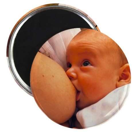 Mother breast-feeding her 3 month old baby Magnet