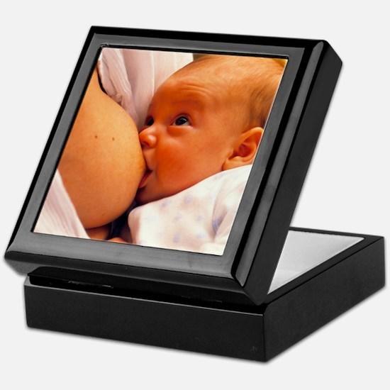 Mother breast-feeding her 3 month old Keepsake Box