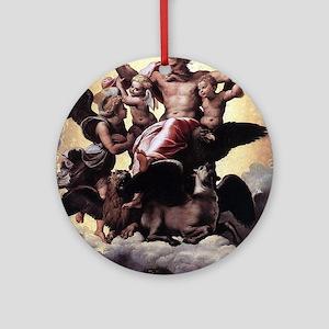Ezekiel's Vision - Raphael Round Ornament