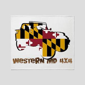 Western Md 4x4 Throw Blanket