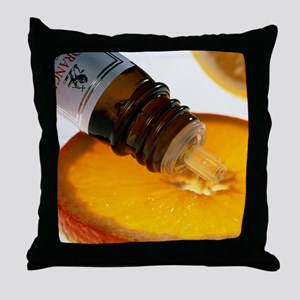 Orange slice and orange aromatherapy  Throw Pillow