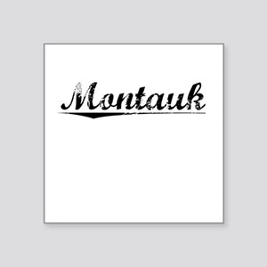 "Montauk, Vintage Square Sticker 3"" x 3"""