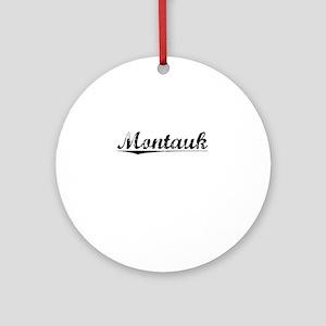Montauk, Vintage Round Ornament
