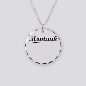 Montauk, Vintage Necklace Circle Charm
