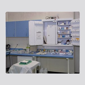 Operating theatre drugs cabinet Throw Blanket