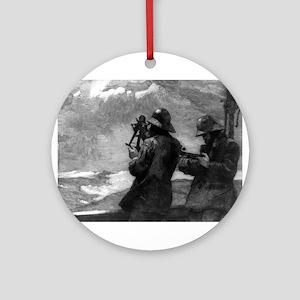 Eight bells - Winslow Homer - 1888 Round Ornament