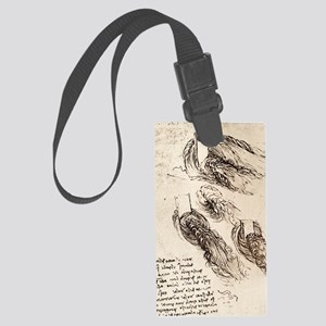 Notes by Leonardo da Vinci Large Luggage Tag