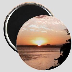 Biscayne Bay Sunset Magnet