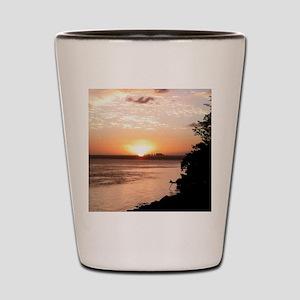 Biscayne Bay Sunset Shot Glass