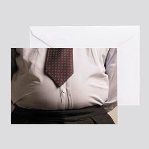 Obese businessman Greeting Card