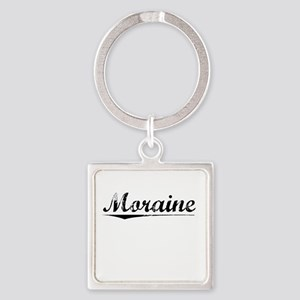 Moraine, Vintage Square Keychain