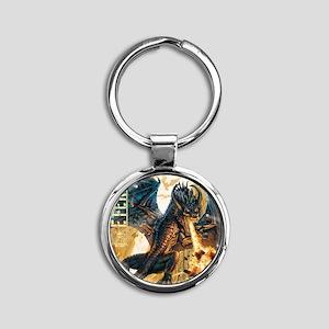 Eternal Edge-Dragon Fire Round Keychain