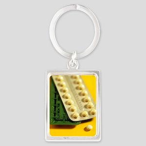 Oral contraception Portrait Keychain