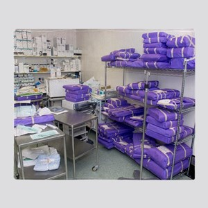 Operating theatre supplies store Throw Blanket