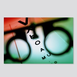 Ophthalmology test frames Postcards (Package of 8)