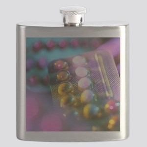 Oral contraceptive pills in packaging Flask