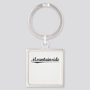 Mountainside, Vintage Square Keychain