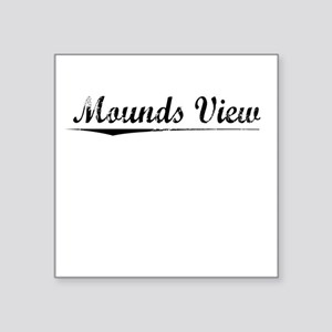 "Mounds View, Vintage Square Sticker 3"" x 3"""