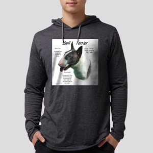Bull Terrier (colored) Mens Hooded Shirt