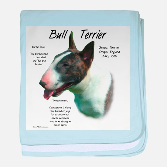Bull Terrier (colored) baby blanket