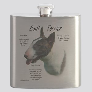 Bull Terrier (colored) Flask