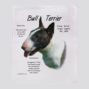 Bull Terrier (colored) Throw Blanket