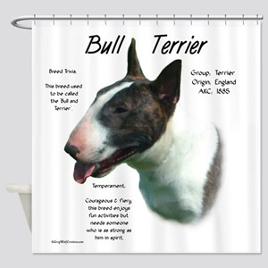 Bull Terrier (colored) Shower Curtain