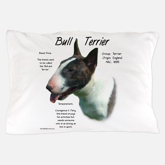 Bull Terrier (colored) Pillow Case