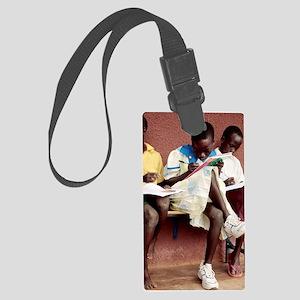Orphanage school Large Luggage Tag