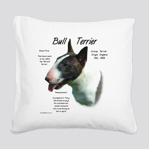 Bull Terrier (colored) Square Canvas Pillow