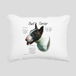 Bull Terrier (colored) Rectangular Canvas Pillow
