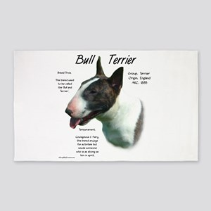 Bull Terrier (colored) Area Rug