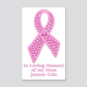 Breast Cancer Gem Ribbon Rectangle Car Magnet