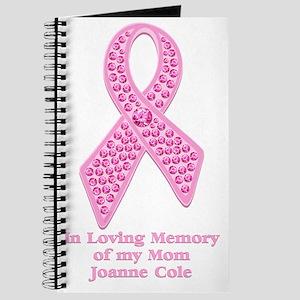 Breast Cancer Gem Ribbon Journal