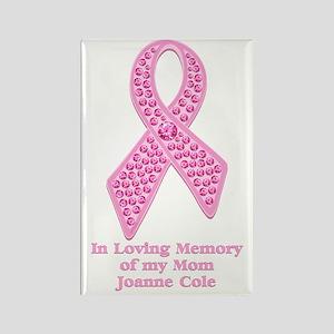Breast Cancer Gem Ribbon Rectangle Magnet