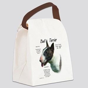 Bull Terrier (colored) Canvas Lunch Bag