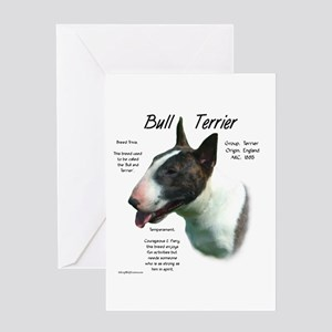 Bull Terrier (colored) Greeting Card