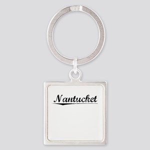 Nantucket, Vintage Square Keychain