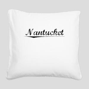 Nantucket, Vintage Square Canvas Pillow