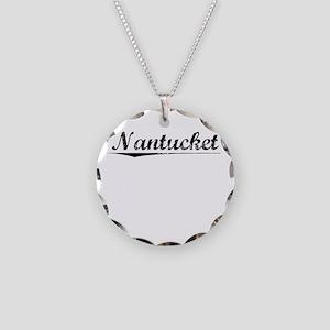 Nantucket, Vintage Necklace Circle Charm
