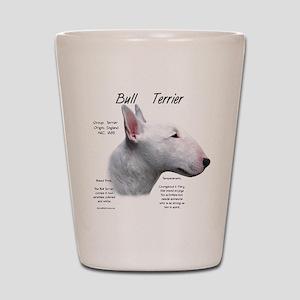 Bull Terrier (white) Shot Glass